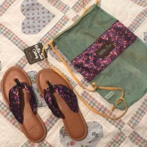Matilda Jane flip flops NWT